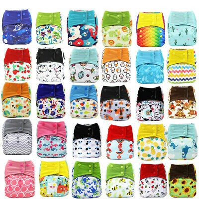 ⭐Adjustable Reusable Lot Baby Kids Boy Girls Washable Cloth Diaper Nappies US