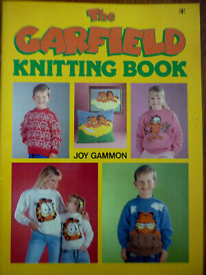 The Garfield Knitting Book ~By Joy Gammon~1990~ Sweaters~Cushion~Pencil Case~Vgc