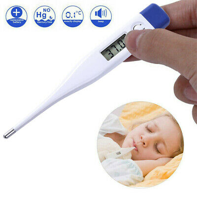 Digital LCD Medical Thermometer Heating Fever Body Temperature Meter Baby Adult