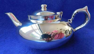 Excellent Genuine Robur Perfect Silver Teapot with Infuser c1950s