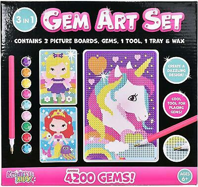 Sticky Mosaic Picture Art Set - Childrens Colour By Numbers Craft Kit - Kids Toy