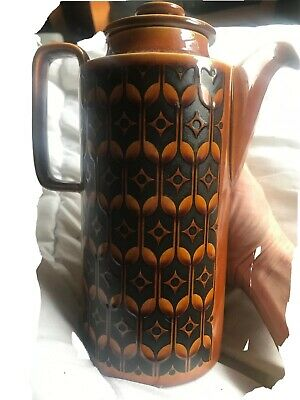 Vintage retro Hornsea pottery Heirloom coffee pot colour Autumn Brown