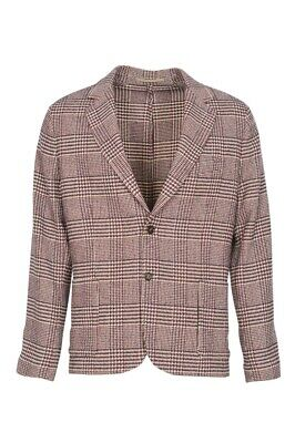 Eleventy Blazer Men's 58 SALE !! Sienna Slim Fit Checkered Viscose