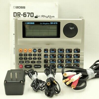 BOSS DR-670 Dr. Rhythm Drum Machine With AC adapter cable (CS71532)