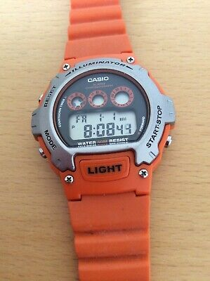 Excellent Orange Casio Illuminator Quartz Digital Wristwatch-Full Working Order.