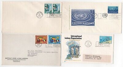 1960's UNITED NATIONS - 4 x First Day Covers JOB LOT 2