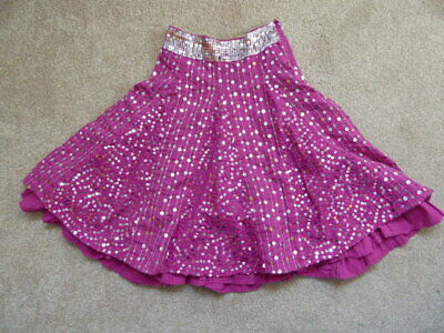 Girls Marks and Spencer Lined Pink Sequin Skirt Age 6 Years