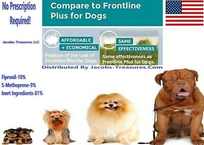 6 Months Generic Frontline Plus For Dogs, 89-132 LBS, XLarge, Flea & Tick Plus!