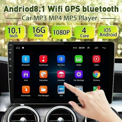 10.1'' 2DIN   Car Stereo Radio Android 8.1 GPS Navi WIFI Bluetooth FM MP5 Player