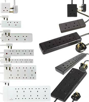 Extension Lead Cable Electric Mains Power 1 2 3 4 6 8 10 Gang Way UK Plug Socket