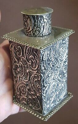 Antique Victorian Quality Silver Plated Rococo Tea Canister / Caddy .C.1880