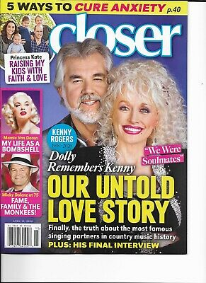 Kenny Rogers Dolly Parton Untold Love Story Mamie Van Doren Closer April 2020