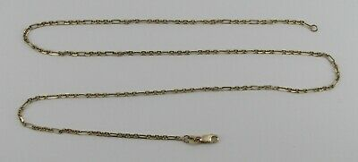 """14k Yellow Gold 20"""" Chain Link Necklace - 5.18 Grams"""