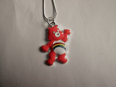 Unwanted CARE BEAR CHEER BEAR Large Charm Gift NECKLACE