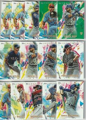 Lot of (14) 2020 Topps Inception Cards w/ Rc's, Green, Bellinger, Robles, Rios +