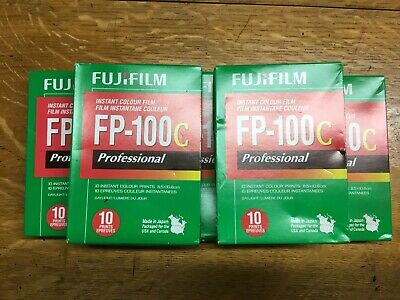 5 Packs FUJI FP-100C Fujifilm Instant Film - Discontinued Exp 2012 - MY LAST LOT