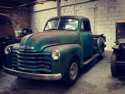 american 3100 patina Chevrolet rat rod hot rod pickup stepside project runs