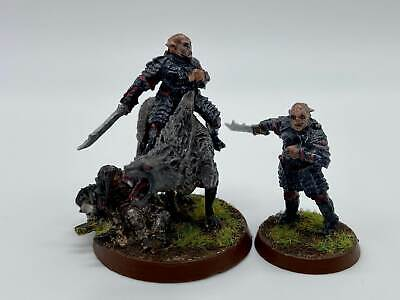 Warhammer Lord of the Rings Gothmog Foot & Mounted Mordor Orc Finecast