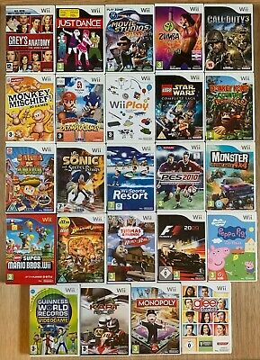 Job Lot of over 25 Wii Games (see photos for titles)
