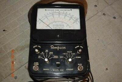 vintage Simpson Vacuum Tube Voltmeter 303 parts only