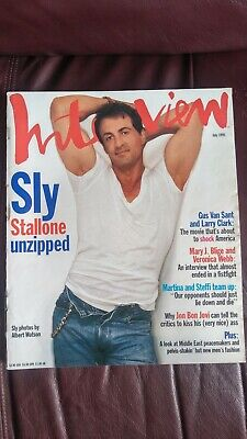 Interview Magazine July 1995 Featuring Sly Stallone