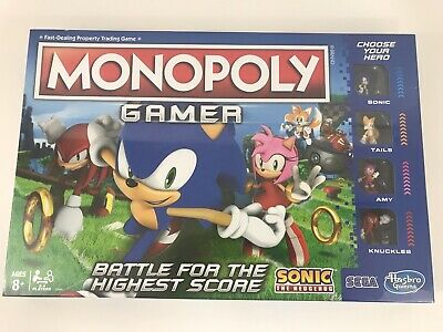 Monopoly Gamer Sonic the Hedgehog Edition Officially Licensed New Factory Sealed