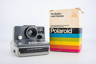 Polaroid The Button Instant Film Land Camera in Original Box NEAR MINT V14