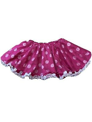 Disney Store Girls Size 5 Punk Polka Dot Skirt