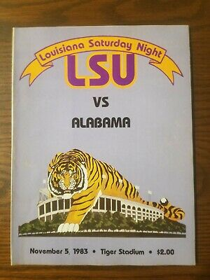 1983 LSU vs Alabama NCAA football program