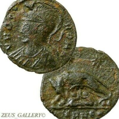 SHE WOLF Suckling Twins Constantine the Great RARE! R3 in RIC Ancient Roman Coin