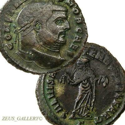 Constantius I Rare CARTHAGE mint RIC R1 Ancient Roman Imperial Follis Coin