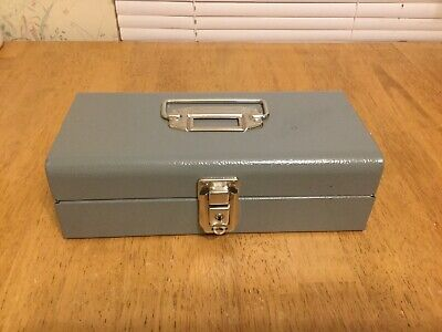 Strongbox Money Box Vintage Buddy Products Hinge Lid USA Lockable