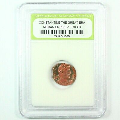 Slabbed Ancient Roman Constantine the Great Coin c. 330 AD Exact Coin Shown 6222