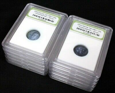 10 Slabbed Ancient Roman Constantine the Great Coins Nice Quality c 330 AD a5
