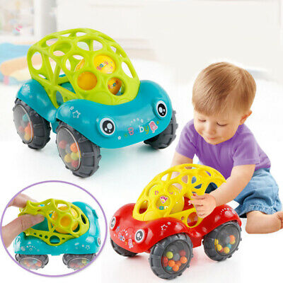 Baby Toddler Rattle Toy Cartoon Flexible Running Car Mobile Infant Kids Handbell