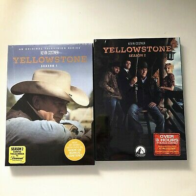 Yellowstone Season 1-2  (DVD,9-Disc Set) One Two Brand New Collection
