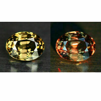 Rare Gemstone! 0.88ct 6.2x4.7mm Oval Natural Unheated Color Change Garnet,Ceylon