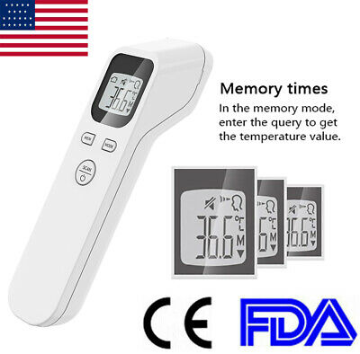 US Stock Digital IR Infrared Forehead Thermometer Gun Adult Body Temperature
