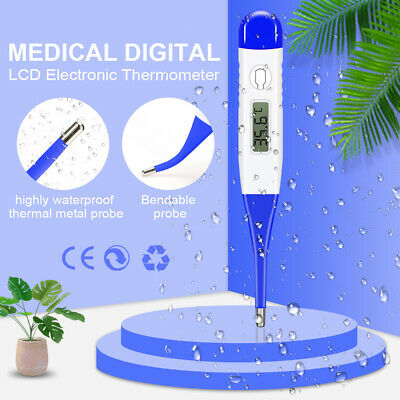 Electronic Digital LCD Oral Thermometer Medical Baby Adult Body Safe US Shipping