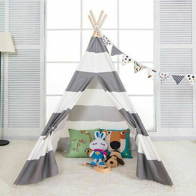 Large Striped Kids Children's Teepee / Wigwam / Play Tent / Play House Baby