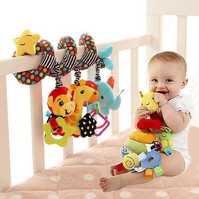 Baby Crib Cot Pram Hanging Rattle Spiral Stroller Car Seat Pushchair Toy