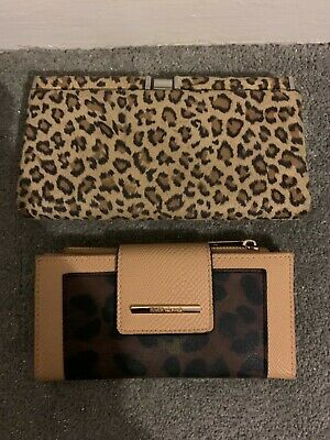 river island leopard skin purse x2 used 💙💙