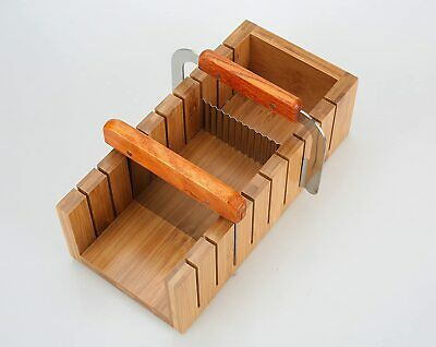 Wood Soap Mold Loaf Cutter Mold with 1pcs Wavy & Straight Planer Cutting Tool...