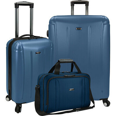 U.S. Traveler 3-Piece Spinner and Boarding Bag Luggage Luggage Set NEW