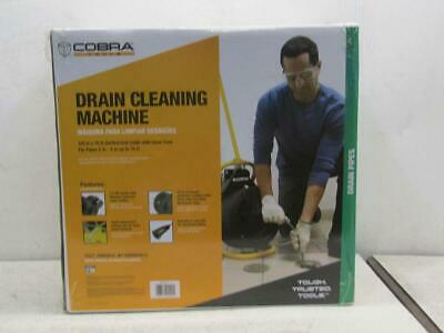 Cobra 3/8In x 75Ft Auger Drain Cleaning Cable Drum Machine 90040
