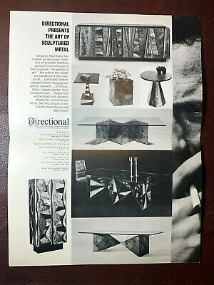 VTG Brutalist Mid Century Modern Paul Evans Directional One sheet Catalog