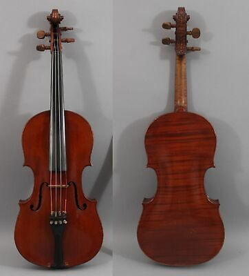 Antique 4/4 Figured Maple Violin Carved Imperial Violin Amati Wilhelm Duere 1901