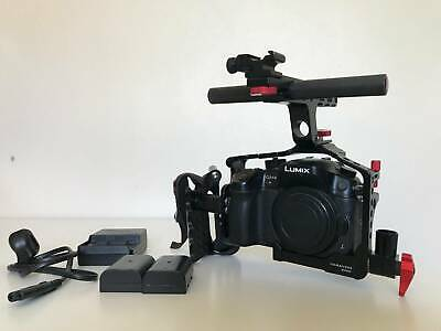 PANASONIC LUMIX GH4 Body 4K Camera w/Cage Only 433 Shutter Count EXCELLENT Cond