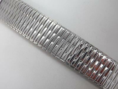 "Rowi Fixo-Flex Stainless Steel 22mm 7/8"" Mens Vintage Watch Band Strght Expansn"