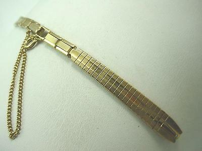 Brite Ladies Butterfly Clasp Vintage Watch Band Gold Tone C Ring New Old Stock